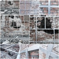 renovation of building wall collage
