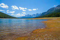Lower Kananaskis Lake on a warm summer day