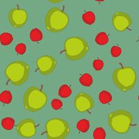 Seamless pattern with cartoon apples. Fruits repeating background. Endless print texture. Fabric design. Wallpaper 577