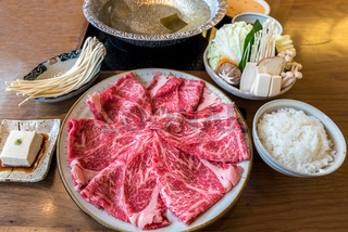 Wagyu beef Shabu hot pot set