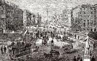 Cityscape of Dublin, 19th century