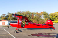 Classic red Cessna 170 aircraft