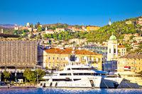 City of Rijeka waterfront and Trsat sanctuary view