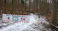 tree felling; no passage; forestry;