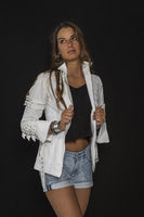 Fashion against black background