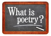 What is poetry? A question on blackboard.