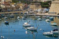 View on Malta bay between Kalkara and Birgu.