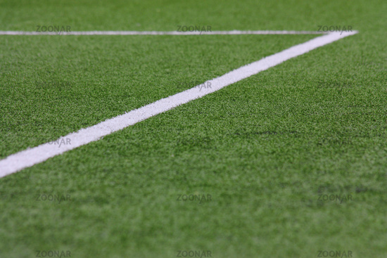 Football pitch, box in blur