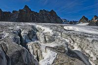 Crevasses on the Plateau du Trient, Valais, Switzerland