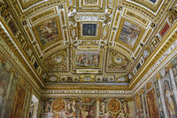 ceiling painting, Castel Sant Angelo, castle, museum, Rome, Italy, Europe