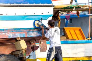 Boats in the harbor of Marsaxlokk