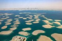 Dubai The World Welt Insel Inseln Deutschland Österreich Panorama Luftaufnahme Luftbild