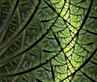 Fractal looks like leaf