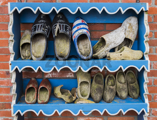 Wooden Shoes on Rack