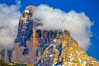 Three peaks of Lavaredo in Dolomites Apls view