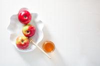 Apples, pomegranate and honey for Rosh Hashanah
