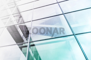 glass facade building exterior, abstract architecture background -