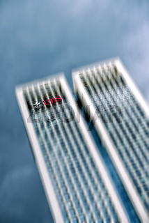 Opernturm mit UBS Logo in Frankfurt