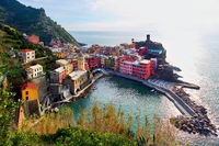 Aerial view to the Vernazza. Italy