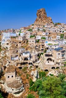 Ortahisar cave town, Cappadocia, Turkey