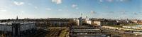 Berlin City Panorama mit Fernsehturm und Himmel