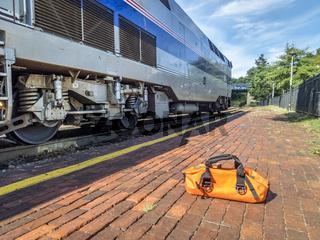 Amtrak train, River Runner,  at Kirkwood, MO
