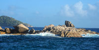 Granite Rocks  at Seychelles Coco Island