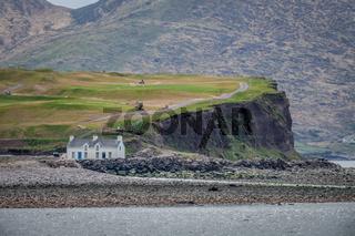 House on the rocky coast