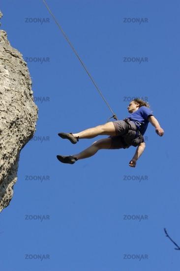 A man runs the Sport Climbing