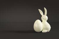white easter bunny figure