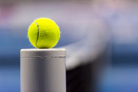 Close-up of a tennis ball.