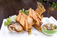 Sea bass fried