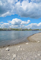 Industrial Plant at Rhine River near Dormagen,North Rhine Westphalia,Germany