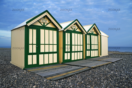 Beach huts, Cayeux-sur-Mer, Picardie, France