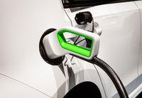 Plug of a charging station on an e-car