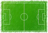 Football field top view.