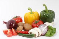 Frisches, knackiges Gemüse/Vegetable komposition