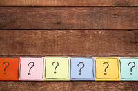 question mark concept - sticky note set