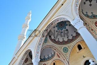 Minarett Turm der blauen Moschee Manavgat