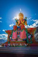 Buddha Maitreya statue in Diskit Gompa. Nubra Valley. Ladakh, In