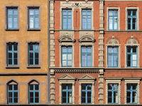 Hanover - Old town facades on Hanns-Lilje-Platz