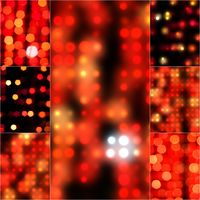 Blur abstract background bokeh effect in red color. Blurred light in vintage retro tone. Blurry bokeh circles for Christmas soft focus dreamy set. Defocus shinny bubble light wallpaper Collage