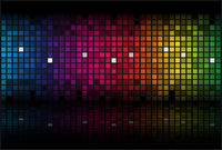Abstract rainbow - colored vector background