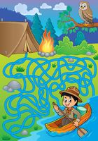 Maze 27 with water scout boy