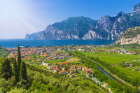 Popular travel destination, Torbole on lake Garda, Trient, Italy