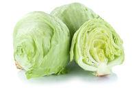 Eisbergsalat Salat geschnitten Gemüse Freisteller freigestellt isoliert