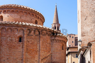 Rotonda di san lorenzo and bell tower of Basilica