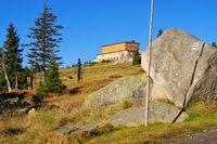 Peterbaude im Riesengebirge - Petrova bouda Mountain hut in Giant  Mountains in Bohemia