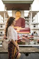 Girl in buddhist temple