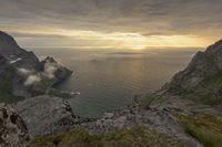 Evening mood by the Atlantic, Moskenesoeya, Lofoten, Norway
